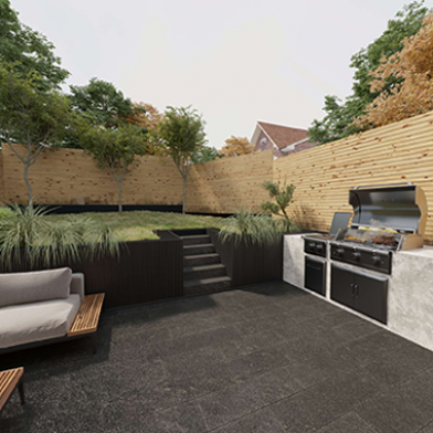 Kitchen and Outdoor