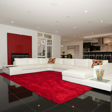 Red Hot Living Room