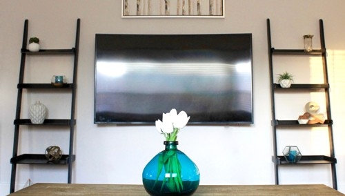 How to Transform Your TV Wall with Decorative Living Room Ladders